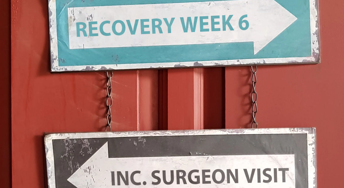 Recovery Week 6 including surgeon follow-up